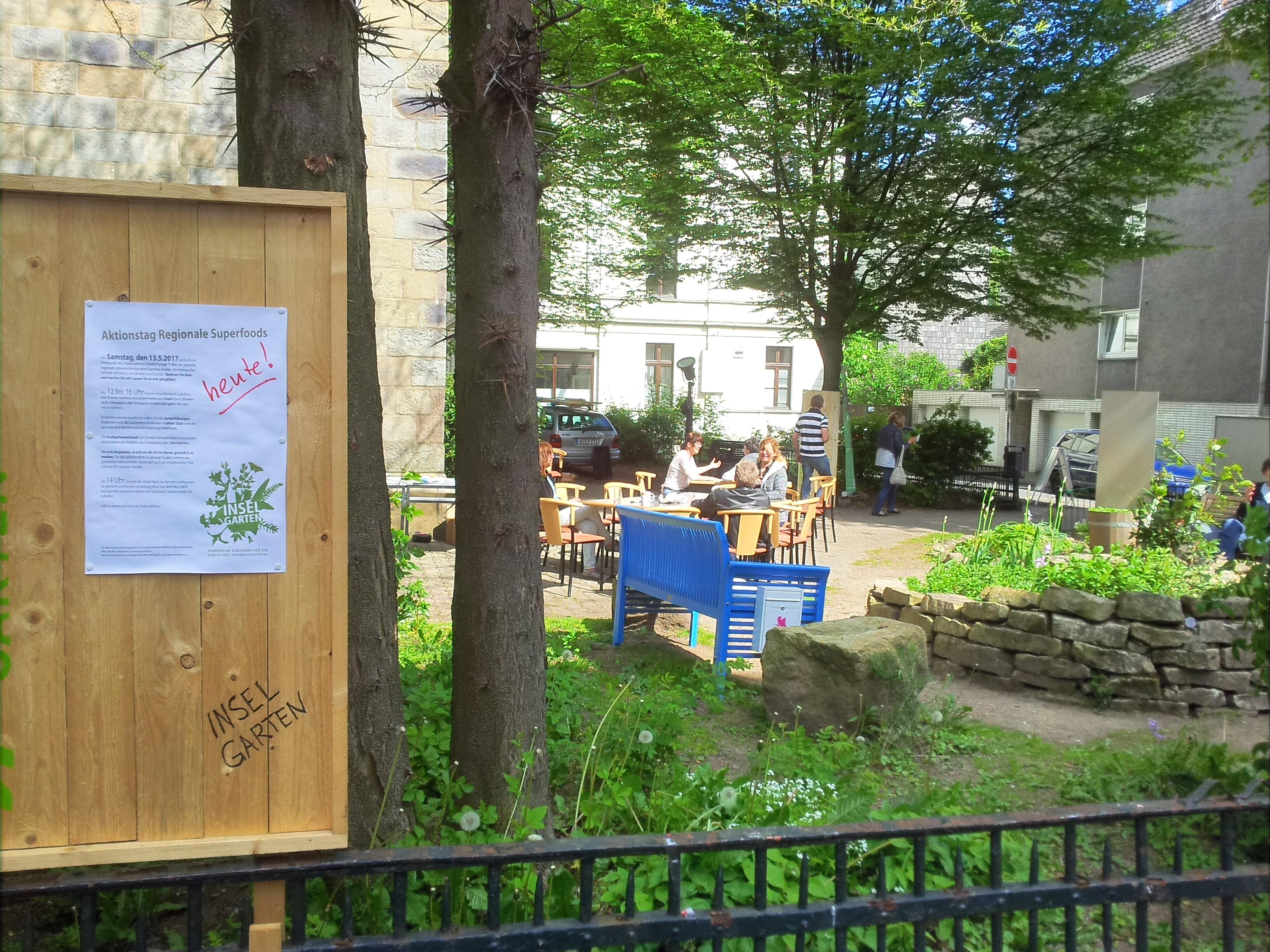 Aktionstag Superfoods im Inselgarten - Infotafel